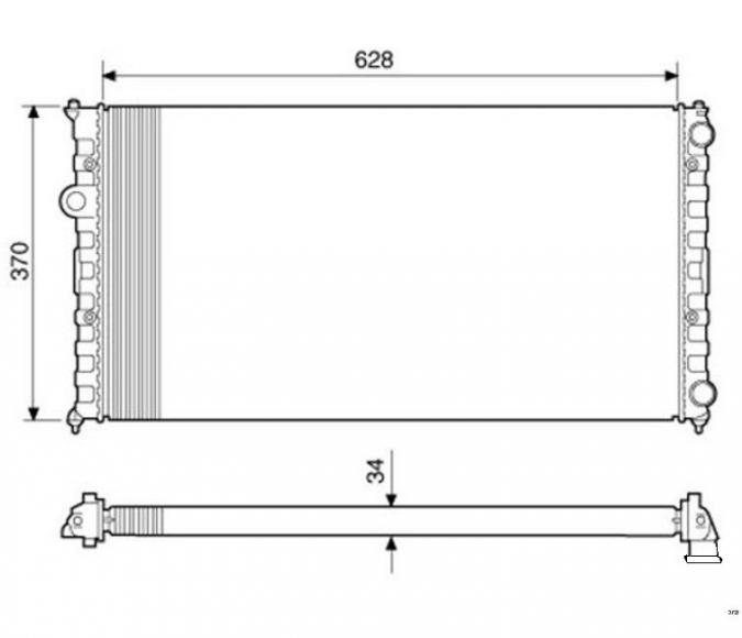 RADIADOR POLLO 1.8 CLASSIC 97/98 C/AR RV-2500