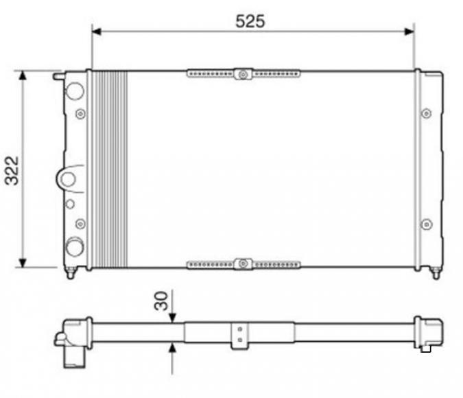 RADIADOR SANTANA/QUANTUM 1.8/2.0 95 RV-2501