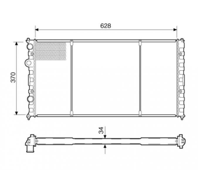 RADIADOR POLO 1.8 CLASSIC 99>02 C/AR IMPORTADO