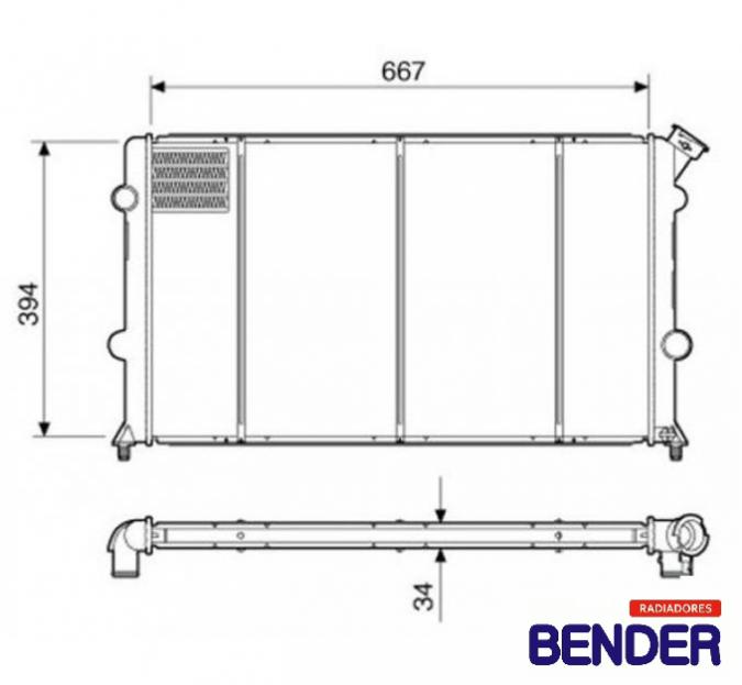 RADIADOR S10/BLAZER 2.0/2.2/2.4 FLEX TODOS C/AR DELPHI