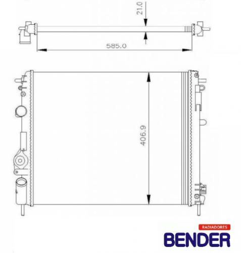 RADIADOR SCENIC 1.6/2.0 99> C/AR RV-2901